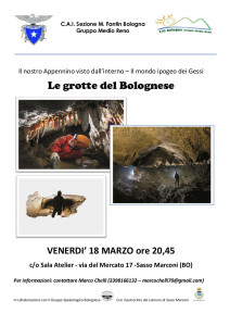 Volantino grotte bolognesi